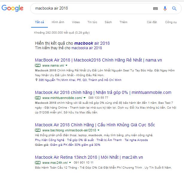 Quảng cáo google tìm kiếm - Tinh tế ads